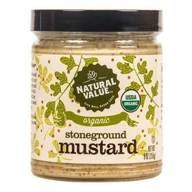 Natural Value Stone Ground Mustard, Organic - 8 ozs.