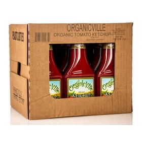 OrganicVille Ketchup, Organic - 12 x 24 ozs.