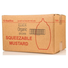 Eden Foods Brown Mustard, Squeezable, Organic, CO264, Price/12 x 9 ozs
