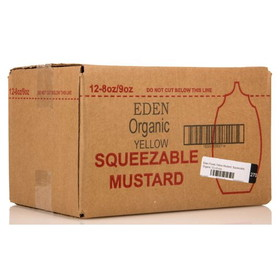 Eden Foods Yellow Mustard, Squeezable, Organic, CO266, Price/12 x 9 ozs