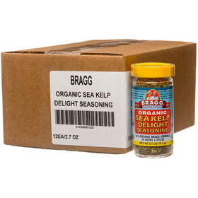 Bragg's Sea Kelp Delight Seasoning, Organic - 12 x 2.7 ozs.