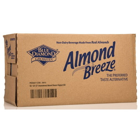 Blue Diamond Almond Breeze, Unsweetened Original - 12 x 32 ozs.