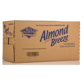 Blue Diamond Almond Breeze, Unsweetened Vanilla - 12 x 32 ozs.