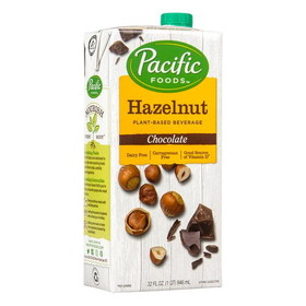 Pacific Foods Hazelnut Milk, Chocolate - 32 ozs.