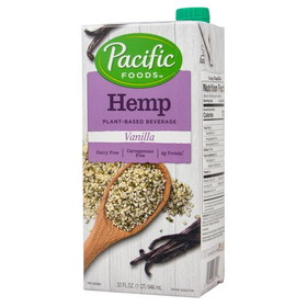 Pacific Foods Hemp Milk - Vanilla - 32 ozs.