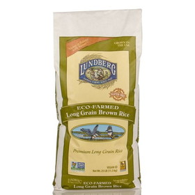 Lundberg Rice, Long Grain, Brown, Eco-Farmed, Gluten Free, GR041, Price/25 lbs