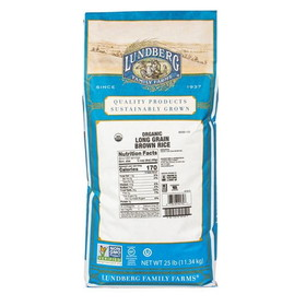 Lundberg Rice, Long Grain, Brown, Organic - 25 lbs.