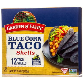 Garden of Eatin' Taco Shells, Blue Corn - 3 x 5.5 ozs.