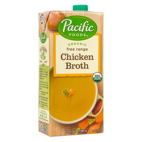 Pacific Foods Chicken Broth, Organic, GY058, Price/32 ozs