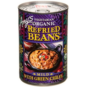 Amy's Refried Beans with Green Chiles, Organic, GY065, Price/15.4 ozs