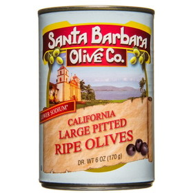 Santa Barbara Large Pitted Black Olives - 5.75 ozs.