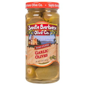 Santa Barbara Garlic Stuffed Olives, GY196, Price/5 ozs