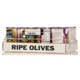 Natural Value Green Olives, Pitted, Natural, GY200, Price/12 x 6 ozs