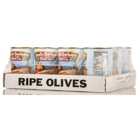 Santa Barbara Large Pitted Black Olives - 12 x 5.75 ozs.