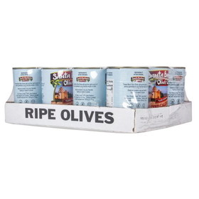 Santa Barbara Black Olives, Pitted, Medium - 12 x 6 ozs.