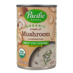 Pacific Foods Cream of Mushroom Soup, Condensed, Organic, GY301, Price/12 ozs