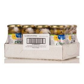 Mediterranean Organics Stuffed Green Olives with Peppers, Organic - 12 x 8.5 ozs.