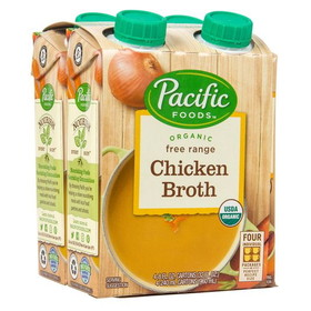 Pacific Foods Broth, Chicken Organic - 4 x 8 ozs.