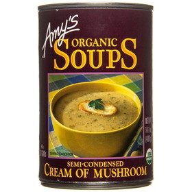 Amy's Cream of Mushroom Soup, Organic - 14.1 ozs.