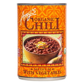 Amy's Medium Chili with Vegetables, Organic - 14.7 ozs.