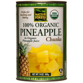 Native Forest Pineapple Chunks, Organic - 14 ozs.