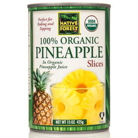 Native Forest Pineapple Slices, Organic, GY648, Price/15 ozs