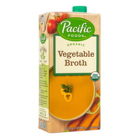 Pacific Foods Vegetable Broth, Organic, GY652, Price/32 ozs