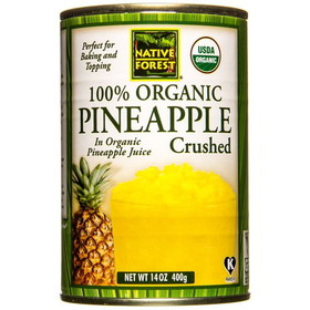 Native Forest Pineapple Crushed, Organic - 14 ozs.