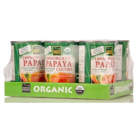 Native Forest Papaya Chunks, Organic - 6 x 14 ozs.