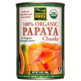 Native Forest Papaya Chunks, Organic - 14 ozs.