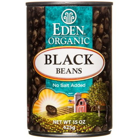 Eden Foods Black Beans, Canned, Organic, GY701, Price/15 ozs