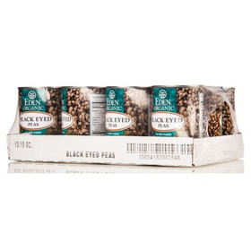 Eden Foods Black Eyed Peas, Organic, GY702, Price/12 x 15 ozs