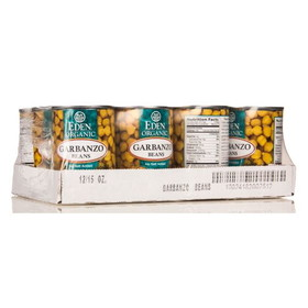 Eden Foods Garbanzo Beans (chick peas), Organic - 12 x 15 ozs.