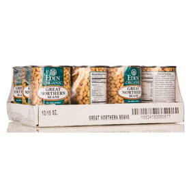 Eden Foods Great Northern Beans, Organic - 12 x 15 ozs.