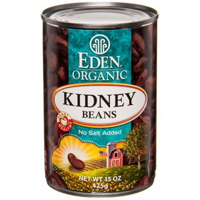 Eden Foods Kidney (dark red) Beans, Organic, GY713, Price/15 ozs