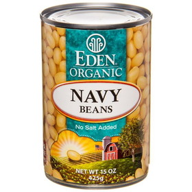 Eden Foods Navy Beans, Organic, GY715, Price/15 ozs