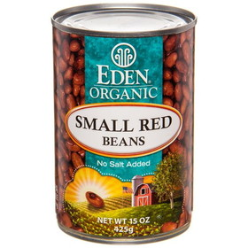 Eden Foods Small Red Beans, Canned, Organic, GY719, Price/15 ozs