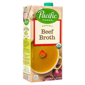 Pacific Foods Beef Broth, Organic - 32 ozs.