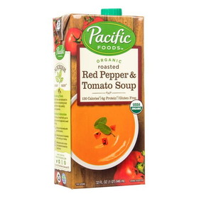 Pacific Foods Roasted Red Pepper & Tomato Soup, Organic - 32 ozs.