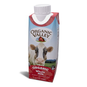 Organic Valley Milk 1% Single Serve, Shelf Stable, Organic - 12 x 8 ozs.