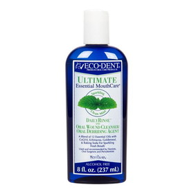 Eco-Dent Ultimate Daily Rinse, Sparkling Clean Mint - 8 ozs.