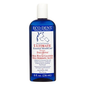 Eco-Dent Ultimate Daily Rinse, Spicy-Cool Cinnamon - 8 ozs.