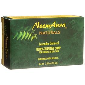 Neem Aura Handmade Soap, Lavender & Oatmeal - 3.30 ozs.
