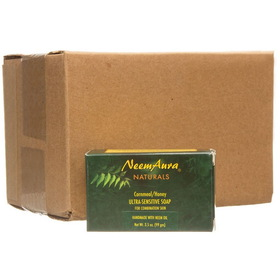Neem Aura Handmade Soap, Cornmeal & Honey - 12 x 3.75 ozs.