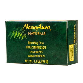 Neem Aura Refreshing Citrus Soap - 3.75 ozs.