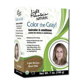 Light Mountain Color the Gray! Hair Color #2 Light Brown - 7 ozs.