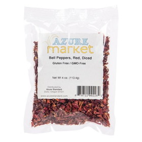 Azure Standard Bell Peppers, Red, Diced, Dehydrated, HS431, Price/4 ozs