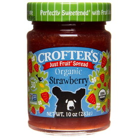 Crofter's Strawberry Just Fruit Spread, Organic - 10 ozs.