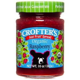 Crofter's Raspberry Just Fruit Spread, Organic - 10 ozs.