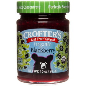 Crofter's Blackberry Just Fruit Spread, Organic - 10 ozs.